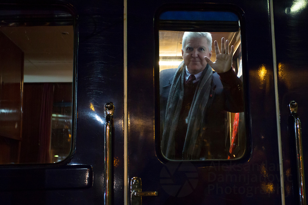 His Excellency Mr. Kyle Scott posed for this image when visiting Titos ''Blue train''