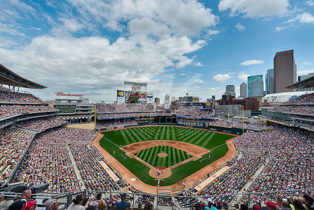 [Note: This high dynamic range photo was created by combining multiple exposures during post-processing.] A general view of Target Field on July 5, 2014 in Minneapolis, Minnesota.  Photo by Ben Krause