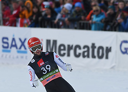 March 22, 2019 - Planica, Slovenia - Markus Eisenbichler of Germany seen reacting after his final jump during the FIS Ski Jumping World Cup Flying Hill Individual competition in Planica. (Credit Image: © Milos Vujinovic/SOPA Images via ZUMA Wire)