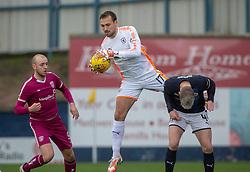 Raith Rovers keeper Dean Lyness. Raith Rovers 0 v 1 Arbroath. Scottish Football League Division One game played 16/2/2109 at Stark's Park.