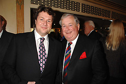 Left to right, singer MICHAEL BALL and his father TONY BALL at a tribute lunch for Elaine Paige hosted by the Lady Taverners at The Dorchester, Park Lane, London on 13th November 2007.<br />