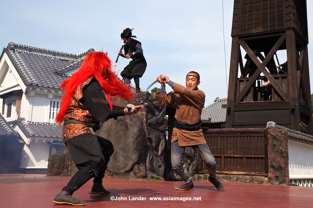 Ninjas were warriors specially trained in a variety of unorthodox battle techniques.  Ninja first appeared in 14th century Japan and remained active from the Kamakura to the Edo period.  The role of the ninja included sabotage, espionage, scouting and assassination as a method of destabilization in the service of a feudal lord  or shogun.