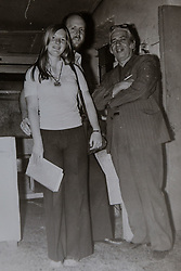 John and Hilary pictured in Corfu in 1975 with hotel manager Kiriyakos.<br /> John and Hilary Bond who met in Majorca at Club 18-30 in May 1973 where John was a Rep and Hilary a guest. This year the couple have just celebrated their 44th wedding anniversary. Watford, Herts, May 29 2018.