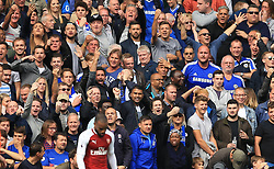 17 September 2017 -  Premier League - Chelsea v Arsenal - Chelsea fans mock Alexandre Lacazette of Arsenal as he misses from close range - Photo: Marc Atkins/Offside