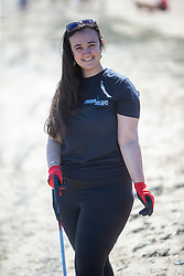 15JUL21 Hannah Lee. The Marine Conservation Society launching it's big beach clean up volunteer call at Cramond beach this morning.