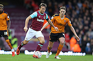 Mark Noble, the West Ham United captain in action. The Emirates FA cup, 3rd round match, West Ham Utd v Wolverhampton Wanderers at the Boleyn Ground, Upton Park  in London on Saturday 9th January 2016.<br /> pic by John Patrick Fletcher, Andrew Orchard sports photography.