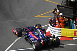 May 25, 2019 - Monaco, Monaco - Thai driver Alexander Albon of Italian team Red Bull Toro Rosso Honda driving his single-seater STR14 during the 90th edition of the Monaco GP, 6th stage of the Formula 1 world championship, in Monaco-Ville, Monaco  (Credit Image: © Andrea Diodato/NurPhoto via ZUMA Press)