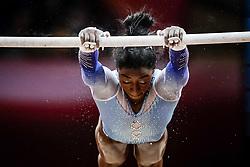 November 2, 2018 - Doha, Qatar - Simone Biles of United States   during  Uneven Bars for Women at the Aspire Dome in Doha, Qatar, Artistic FIG Gymnastics World Championships on 2 of November 2018. (Credit Image: © Ulrik Pedersen/NurPhoto via ZUMA Press)
