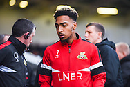Mallik Wilks of Doncaster Rovers (7) before the The FA Cup fourth round match between Doncaster Rovers and Oldham Athletic at the Keepmoat Stadium, Doncaster, England on 26 January 2019.