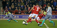 Blackburn Rovers' Elliott Bennett looks on as Nottingham Forest's Joe Worrall diverts his cross into his own net to bring the score back to 3-2<br /> <br /> Photographer David Shipman/CameraSport<br /> <br /> The EFL Sky Bet Championship - Nottingham Forest v Blackburn Rovers - Wednesday 1st January 2020 - The City Ground - Nottingham <br /> <br /> World Copyright © 2020 CameraSport. All rights reserved. 43 Linden Ave. Countesthorpe. Leicester. England. LE8 5PG - Tel: +44 (0) 116 277 4147 - admin@camerasport.com - www.camerasport.com