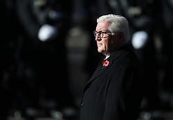 President of Germany Frank-Walter Steinmeier during the remembrance service at the Cenotaph memorial in Whitehall, central London, on the 100th anniversary of the signing of the Armistice which marked the end of the First World War.