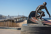 Tim Kelly Lifeguard Memorial Statue at the Hermosa Beach Pier