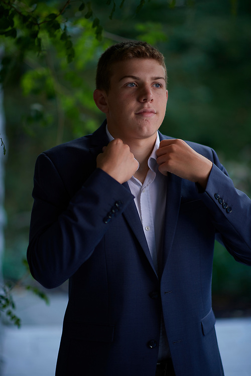 Sewickley, PA - September 29:  Will Andrews during his senior portrait session in Sewickley, PA on September 29, 2018. (Photo by Shelley Lipton)