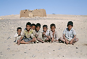 A gang of young boys in the Jaisalmer desert
