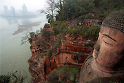 Dafo, the Giant Buddha carved into a cliff, Leshan, China