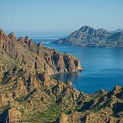 Aerial view of the Coast of Loreto. Baja California Sur. Mexico.
