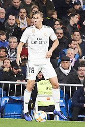 January 24, 2019 - Madrid, Spain - Marcos Llorente (defender; Real Madrid) in action during Copa del Rey, Quarter Final match between Real Madrid and Girona FC at Santiago Bernabeu Stadium on January 24, 2019 in Madrid, Spain (Credit Image: © Jack Abuin/ZUMA Wire)