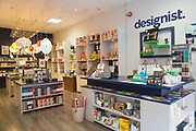 Designist shop, South Great Georges Street, on 04th April 2017 in Dublin, Republic of Ireland. Designist is a unique shop selling stationary, housewares & original gifts by Irish & international designers. Dublin is the largest city and capital of the Republic of Ireland.