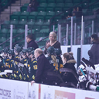 Women's Hockey Head Coach, Sarah Hodges of the Regina Cougars during the Women's Hockey Away Game on Fri Jan 11 at University of Saskatoon. Credit: Arthur Ward/Arthur Images