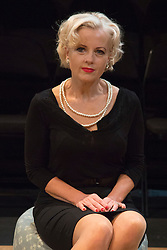 © Licensed to London News Pictures. 02/09/2015. London, UK. Pictured. Wendy Morgan. World premiere of Hatched 'n' Dispatched, a black comedy set on one evening in 1959, opens at the Park Theatre in Finsbury Park. Written by Gemma Page & Michael Kirk, directed by Michael Kirk, the comedy stars Wendi Peters, Diana Vickers and Vicky Binns. Running from 1 to 26 September 2016. Photo credit : Bettina Strenske/LNP