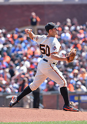 April 29, 2018 - San Francisco, CA, U.S. - SAN FRANCISCO, CA - APRIL 29: San Francisco Giants Pitcher Ty Blach (50) pitching during the first inning of the  the San Francisco Giants and Los Angeles Dodgers game at AT&T Park on April 29, 2018 in San Francisco, CA.  (Photo by Stephen Hopson/Icon Sportswire) (Credit Image: © Stephen Hopson/Icon SMI via ZUMA Press)
