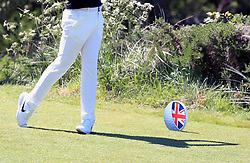General view of England's Tommy Fleetwood on the 3rd tee during day three of the Betfred British Masters at Hillside Golf Club, Southport.