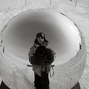"""A chilly selfie at the South """"Pole"""""""