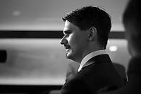DEU, Deutschland, Germany, Berlin, 24.09.2017: Marc Vallendar (AfD) bei der Wahlparty der Partei Alternative für Deutschland (AfD) am Alexanderplatz. Die AfD wird zukünftig im Deutschen Bundestag vertreten sein.