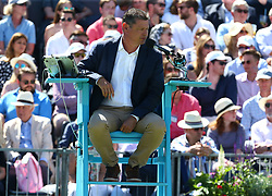 June 18, 2018 - London, England, United Kingdom - Umpire Pierre Bacchi .during Fever-Tree Championships 1st Round match between Cameron Norrie (GBR) against Stan Wawrinka (SUI)  at The Queen's Club, London, on 18 June 2018  (Credit Image: © Kieran Galvin/NurPhoto via ZUMA Press)