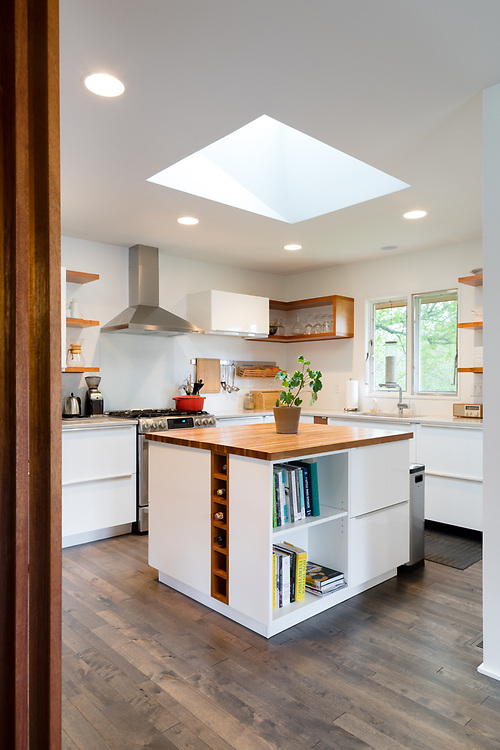 2017 April 25 - A home renovation design by ATOM Design Studio.  Doug Kiser was involved in some elements of the fabrication, but was not the contractor.