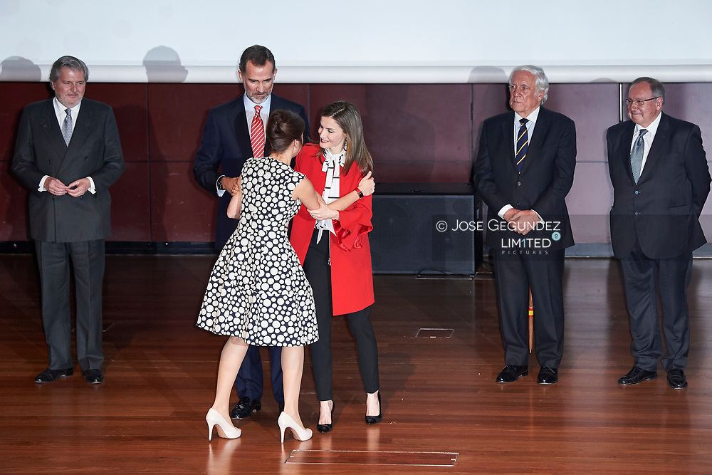 King Felipe VI of Spain, Queen Letizia of Spain attended the delivery of Accreditation of the 7th edition of 'Honorary Ambassadors of the Spain Brand' at Reina Sofia Museum on March 14, 2017 in Madrid<br /> Today marks 1000 days of the reign of  King Felipe VI of Spain and Queen Letizia of Spain