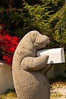 A manatee mailbox, Florida Keys, Florida USA