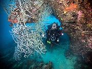 Scuba diving at the Hanging gardens, Kimbe Bay, Papua New Guinea