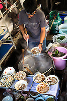 Taling Chan Floating Market - located on the canal Khlong Chak Phra and is only held on weekends selling produce, fish, noodles and snacks sold from boats.  Floating markets in Thailand show an old way of life which have been vanishing from Bangkok has been revived at Taling Chan.