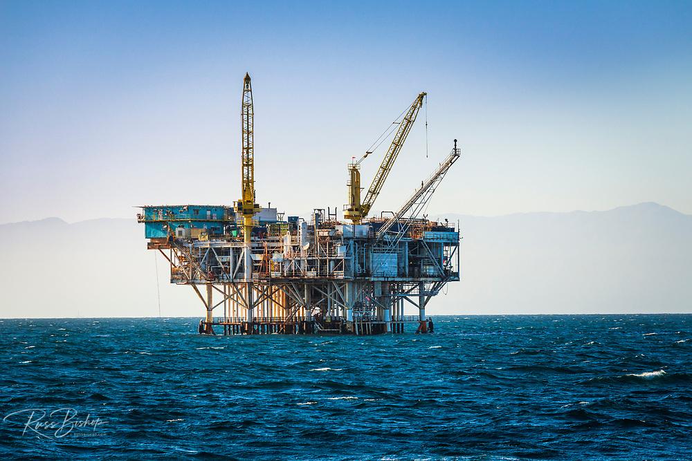 Off-shore oil platform in the Santa Barbara Channel, Ventura, California USA