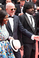 Actress Kalieaswari Srinivasan, director Jacques Audiard and Actor Jesuthasan Antonythasan at the Closing ceremony and premiere of La Glace Et Le Ciel at the 68th Cannes Film Festival, Sunday 24th May 2015, Cannes, France.