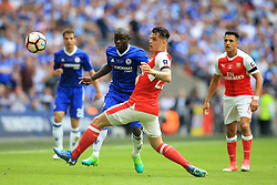 27 May 2017 - Then FA Cup Final - Arsenal v Chelsea - Ngolo Kante of Chelsea in action with Granit Xhaka of Arsenal - Photo: Marc Atkins / Offside.