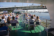 Spido boat trips offer tourist excursion visits on the River Maas around the Port of Rotterdam, Netherlands