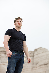 rugged good looking man outdoors