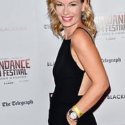Sandra Simpson - Gift (2018) attend Blackbird - World Premiere with Michael Flatley at May Fair Hotel, London, UK. 28th September 2018.