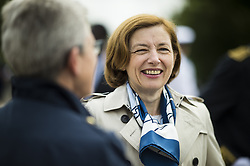 French Defence Minister Florence Parly attends a ceremony commemorating General Charles De Gaulle's June 1940 appeal for French resistance against Nazi Germany, at the Mont Valerien National Memorial in Suresnes on the outskirts of Paris on June 18, 2018. Photo by Eliot Blondet/ABACAPRESS.COM