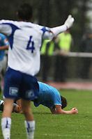Fotball Adeccoliga 1 divisjon <br />Sandnes Ulf - FK Haugesund 251008<br /><br />Foto: Sigbjørn Andreas Hofsmo, Digitalsport<br /><br />Sandnes ulf langt nede illustrasjon jubel tap
