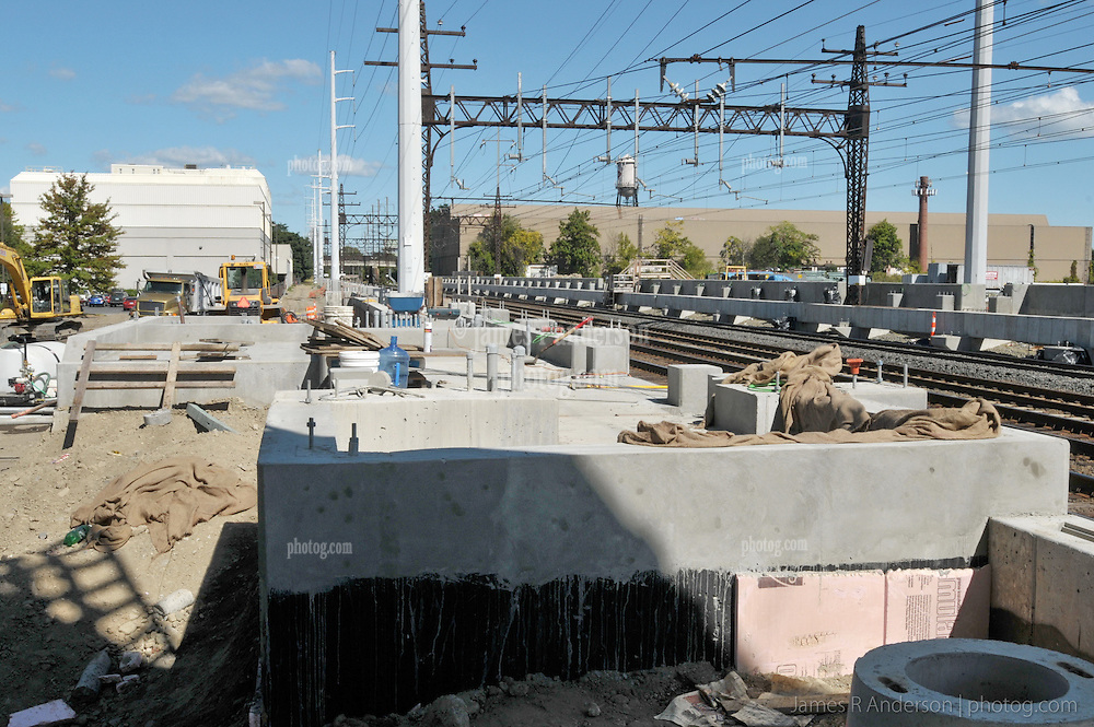 Construction Progress Railroad Station Fairfield Metro Center. Site visit 15, Platform and Pedestrian Bridge Foundations.