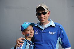 Pretoria. Currie Cup rugby. Loftus Versveld Stadium in Arcadia. 01-09-18 Blue Bulls vs Gauteng Lions. Father and son Jayden and Robben Sutherland from Brakpan.<br /> Picture: Karen Sandison/African News Agency(ANA)