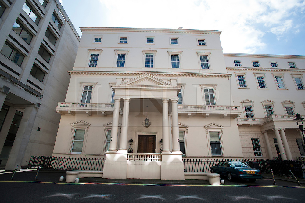© London News Pictures. 23/04/2013. London, UK. 18 Carlton House Terrace in St James's, central London which is set to become the UK's most expensive property at £250 million. The property, which is within easy walking distance of Buckingham Palace, Trafalgar Square, is a six-storey Grade I listed Regency mansion. Photo credit: Ben Cawthra/LNP.