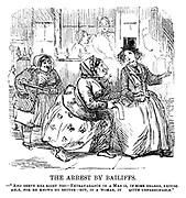 """The Ladies of the Creation; Or, how I was cured of being a strong-minded woman. The Arrest by Bailiffs. - """"And serve her right too - extravagance in a man is, in some degree, excuseable, for he knows no better - but, in a woman, it quite unpardonable."""""""