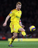 Photo: Paul Thomas.<br /> Arsenal v Liverpool. The Barclays Premiership. 12/11/2006.<br /> <br /> John Arne Riise of Liverpool.