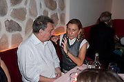 STEPHEN FREARS; MIUCCIA PRADA, Prada Congo Benefit party. Double Club. Torrens Place. Angel. London. 2 July 2009.