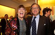 Hilary Alexander and Diego Della Valle . Tod's hosts Book signing with Dante Ferretti celebrating the launch of 'Ferretti,- The art of production design' by Dante Ferretti. tod's, Old Bond St. 19 April 2005.  ONE TIME USE ONLY - DO NOT ARCHIVE  © Copyright Photograph by Dafydd Jones 66 Stockwell Park Rd. London SW9 0DA Tel 020 7733 0108 www.dafjones.com