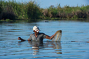 Local fisherman<br /> Hauts plateaux<br /> Central Madagascar<br /> MADAGASCAR